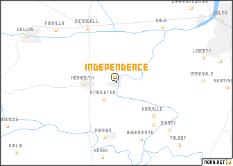 Independence United States USA Map Nonanet - Us map independence