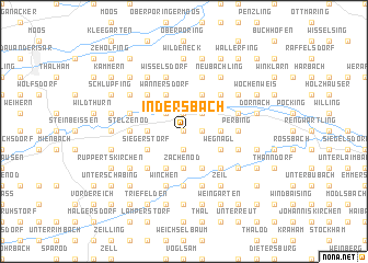 map of Indersbach