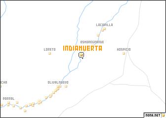 map of India Muerta