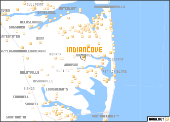 map of Indian Cove