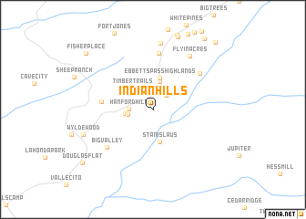 map of Indian Hills
