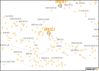 map of Inđići