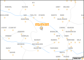 map of Indirk'an