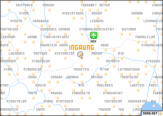 map of Ingaung