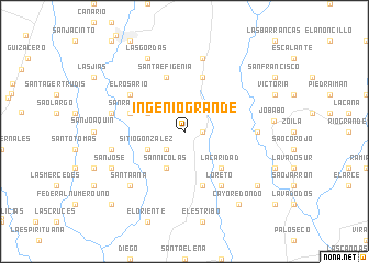 map of Ingenio Grande