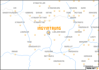 map of Ingyintaung