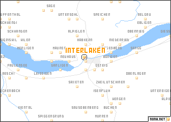 Interlaken Switzerland map nonanet