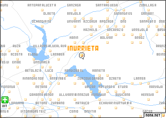 map of Inurrieta
