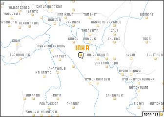 map of Inwa