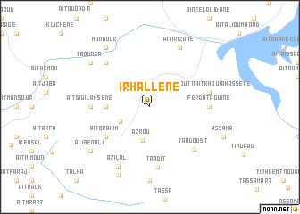 map of Irhallene