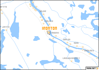 map of Ironton