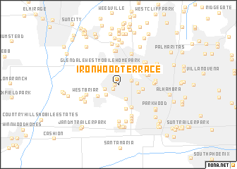 map of Ironwood Terrace