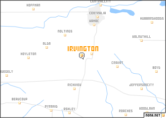 map of Irvington