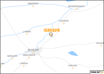 map of Isakova