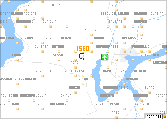 map of Iseo