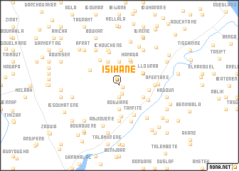 map of Isihane
