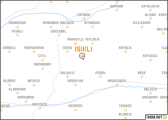 map of Işıklı