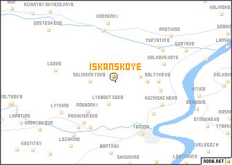 map of Iskanskoye
