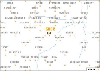 map of Isker