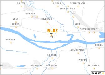 map of Islaz