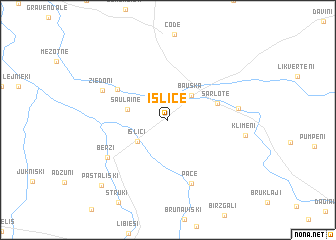 map of Īslīce