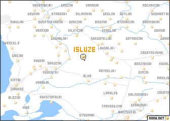 map of Išlūžė