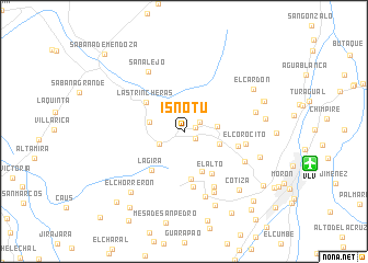 map of Isnotú