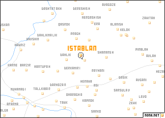 map of Istablān