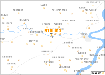 map of Istomino