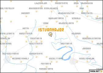 map of Istvánmajor