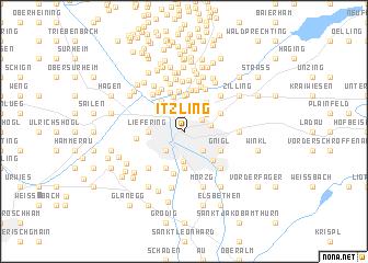map of Itzling