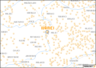 map of Ivanići