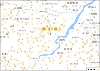 map of Ivanić Mala