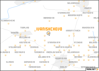 map of Ivanishchevo
