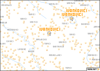 map of Ivankovići