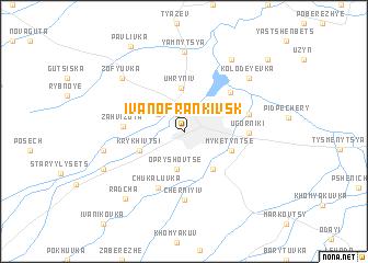 map of Ivano-Frankivs'k