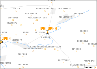 map of Ivanovka