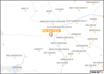 map of Ivanovka