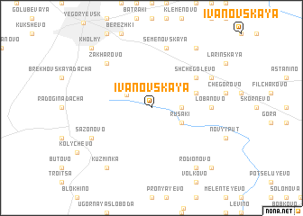 map of Ivanovskaya