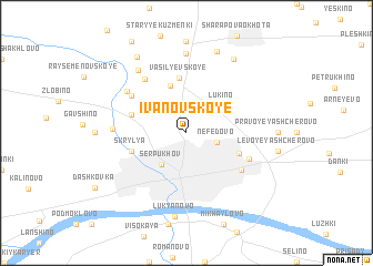 map of Ivanovskoye