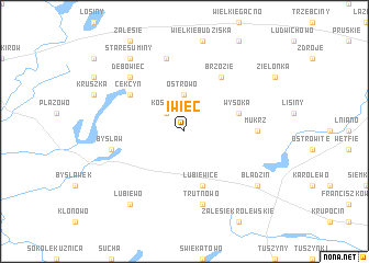 map of Iwiec