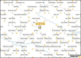 map of Iwonie