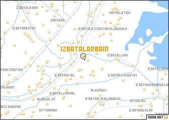 map of 'Izbat al Arba'īn