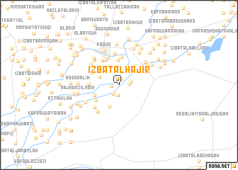 map of 'Izbat al Ḩājir