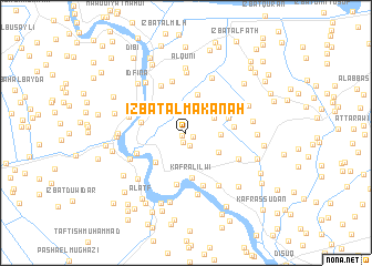 map of 'Izbat al Makanah