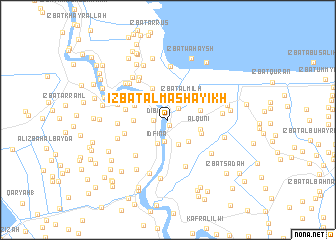 map of 'Izbat al Mashāyikh