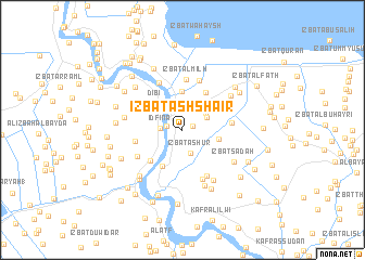 map of 'Izbat ash Shā'ir