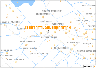 map of 'Izbat aţ Ţūd al Baḩarīyah
