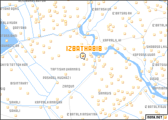 map of 'Izbat Ḩabīb