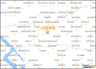 map of Izdebno
